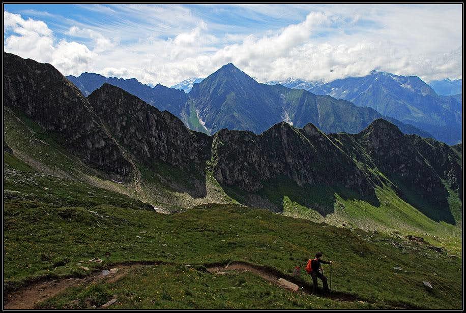 Descent from Ahornspitze