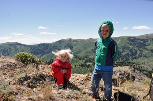 Kids on summit of Gold Ridge