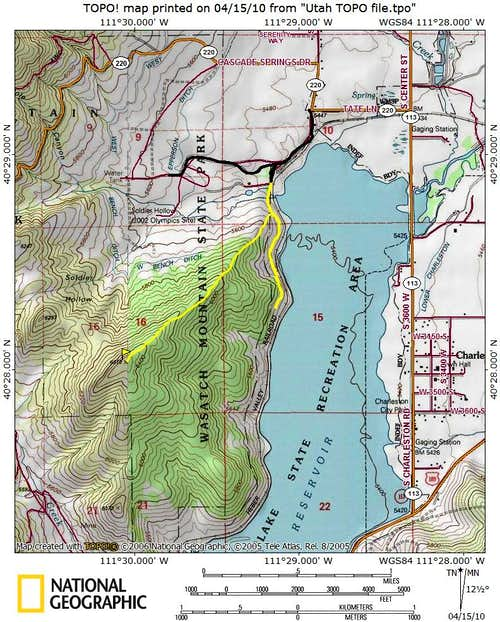 Soldier Hollow Peak map