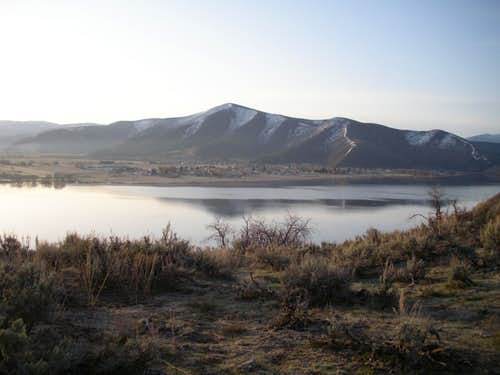 Deer Creek Reservoir & peak 8193