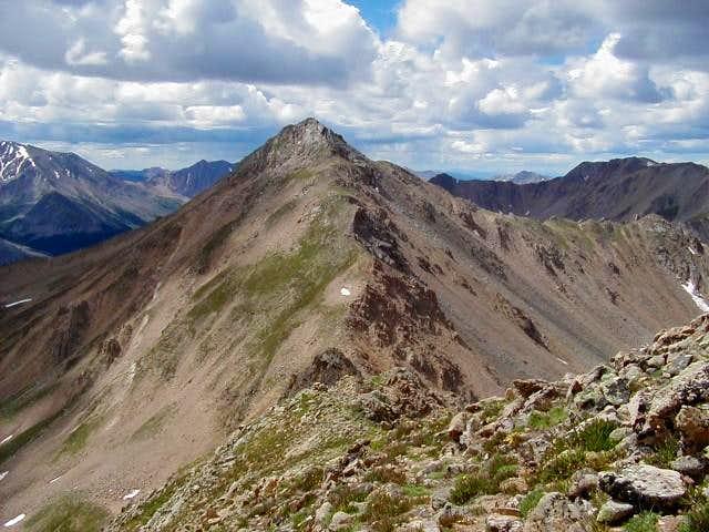 Casco Peak and its north...