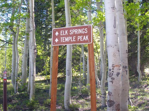 Temple Peak sign