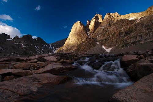 Sunset over Bonney Pass, Wind River Range