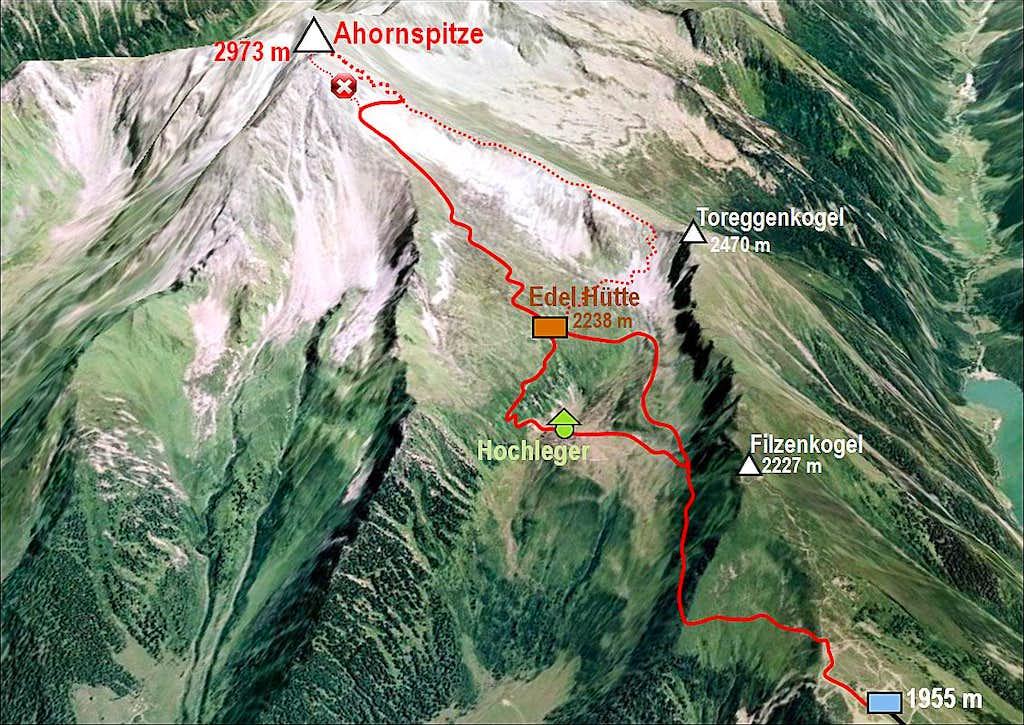 Ahornspitze map