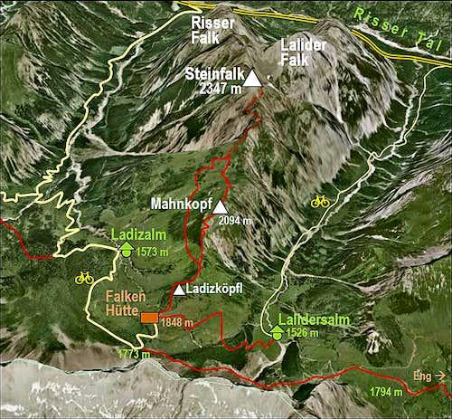 Steinfalk map