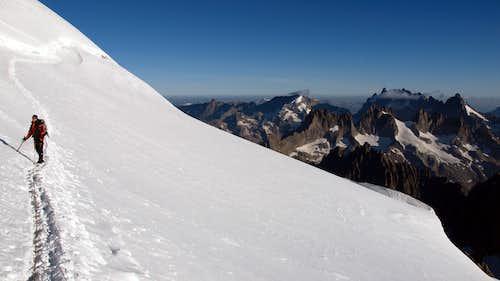 La Meije from Dôme des Ecrins ascent