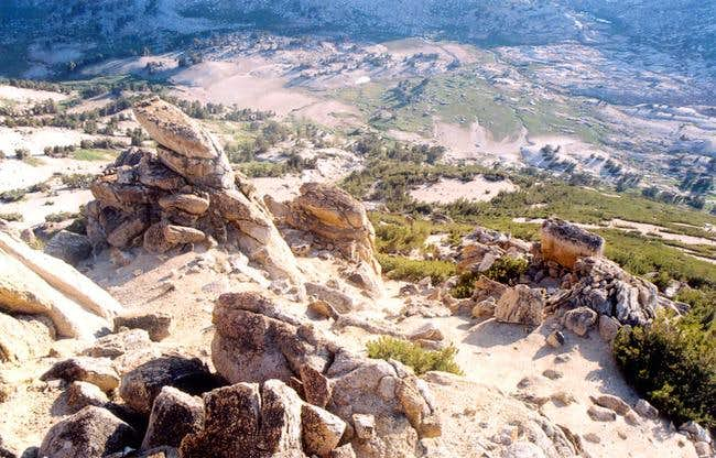 The sandy west slope sections...