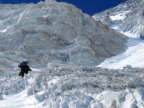 Alexey Bolotov in lower Japanese Couloir
