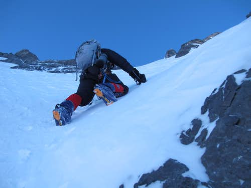 Don Bowie at 26,000ft, below west ridge. Photo: Radek Jaros