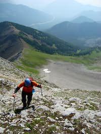 Slogging up hill on Mt.Storelk
