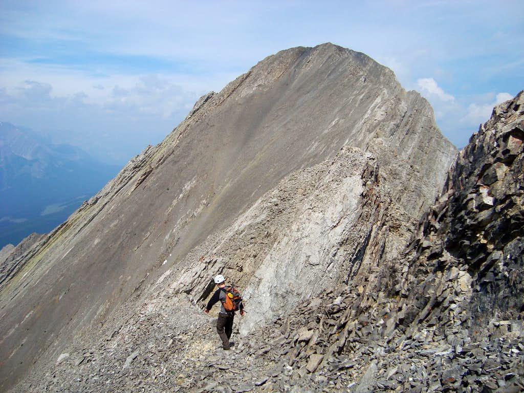 Summit ridge on Mt. Storelk