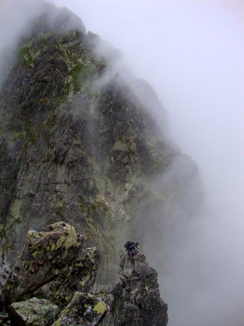 On West ridge of Jastrabia veža