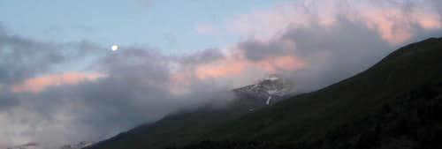 The  Ötztal Alps at sunrise