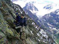 Climbing on the Mainzer Höhenweg