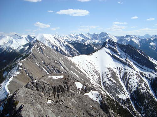 View of the West summit and South summit
