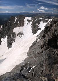 Arapaho Glacier in early August