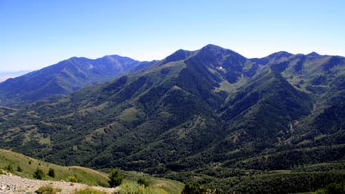 The Butterfield Peaks summit view