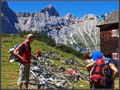 Bikers at Falkenhuette
