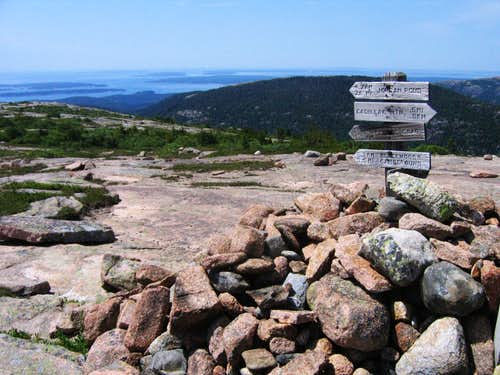 Cadillac Mountain Sign Post
