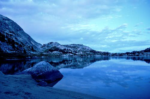 Blue Morning at Island Lake