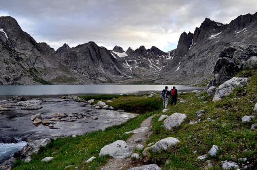 Upper Titcomb Lake, August 7, 2010. Photo by Jacob Moon