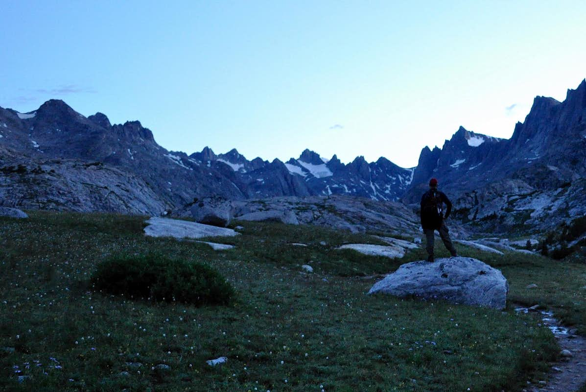 First view of Titcomb Basin
