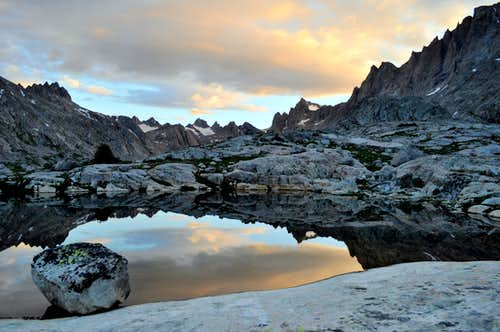 Pure water pond in Titcomb Basin