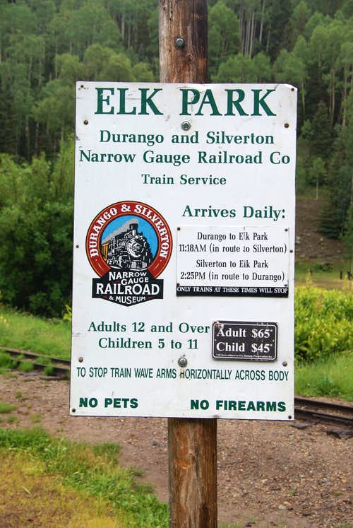 Elk Park Train Stop