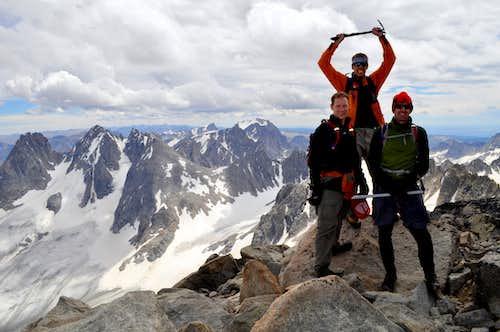 On the summit of Gannett Peak