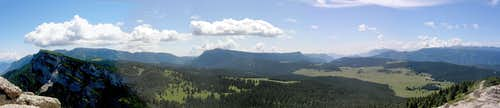 the W part of the tableland