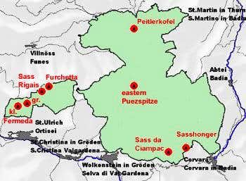 Interactive Map of the Puez...