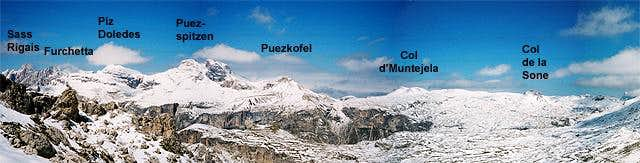 The Puez Plateau with its...