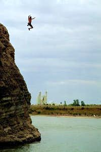 This cliff jumping spot...