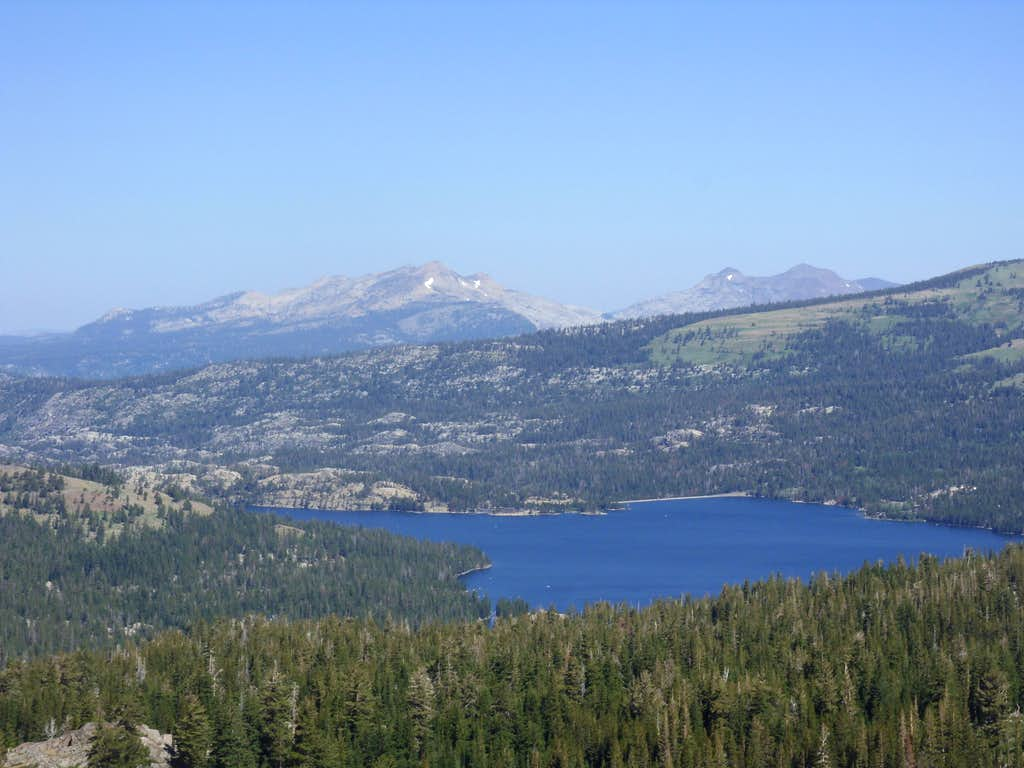 Caples Lake and Desolation Wilderness from Fourth of July Peak