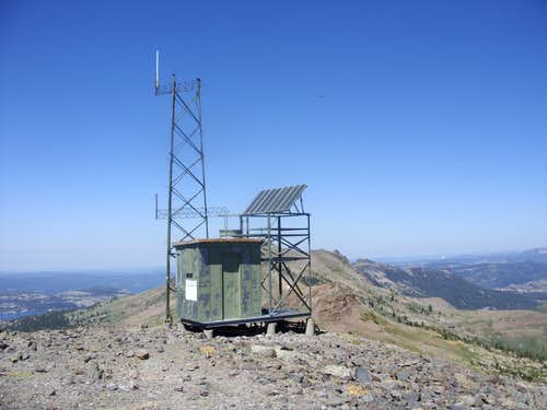 Electric tower on top of Melissa Coray Peak