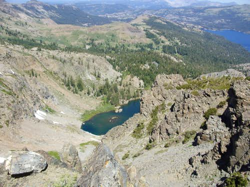 Emigrant Lake from Peak 9795