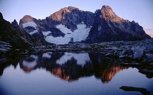 Black Peak alpenglo reflected...