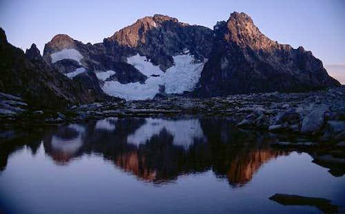 Black Peak alpenglo reflected...