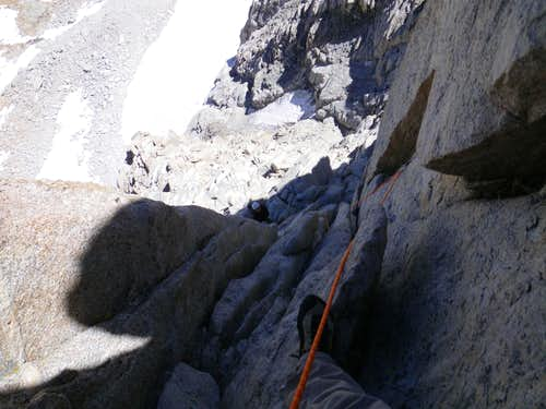 Looking down 5.8 section
