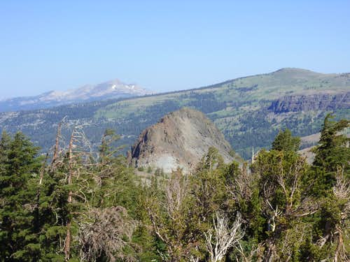 View back down to Black Butte along the Woods Lake Trail, on the way to Fourt of July Peak
