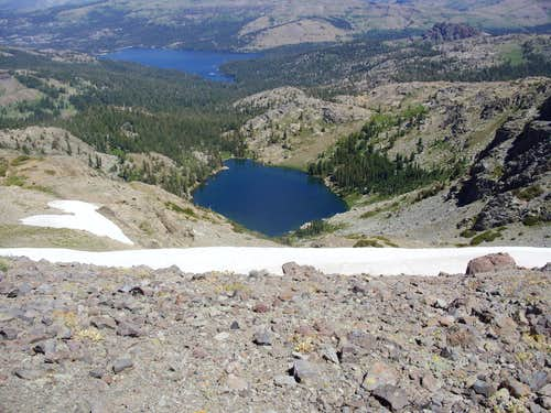 Emigrant Lake from Melissa Coray Peak.