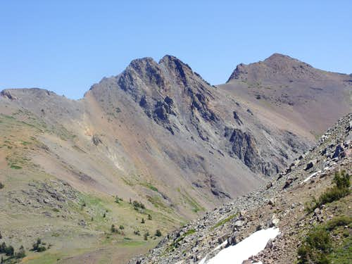 View of the Sisters from the north side Fourth of July Peak