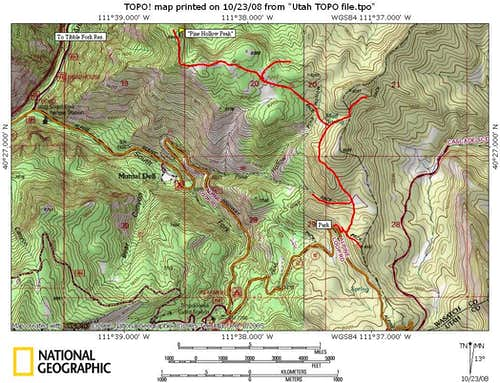 Pine Hollow Peak Map