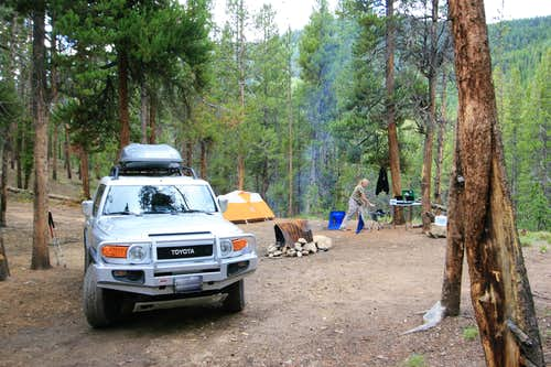 Camping Along Halfmoon Creek