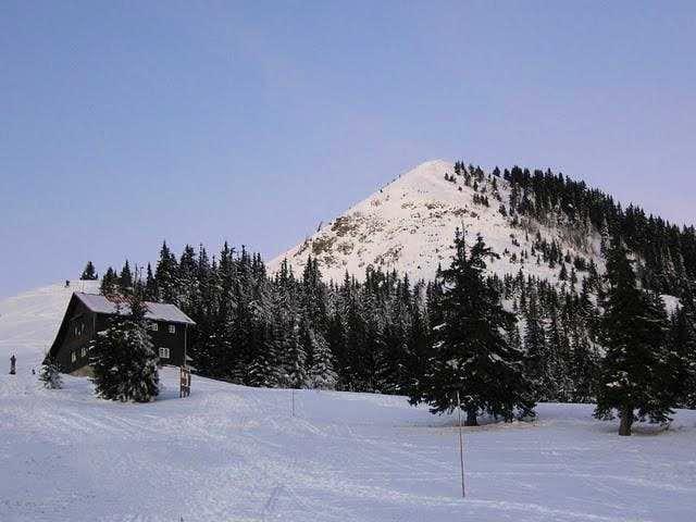 Hut in winter