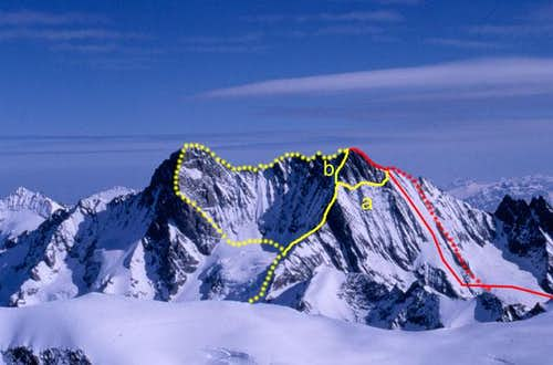 S-face Couloir and SE-ridge (Normal way)