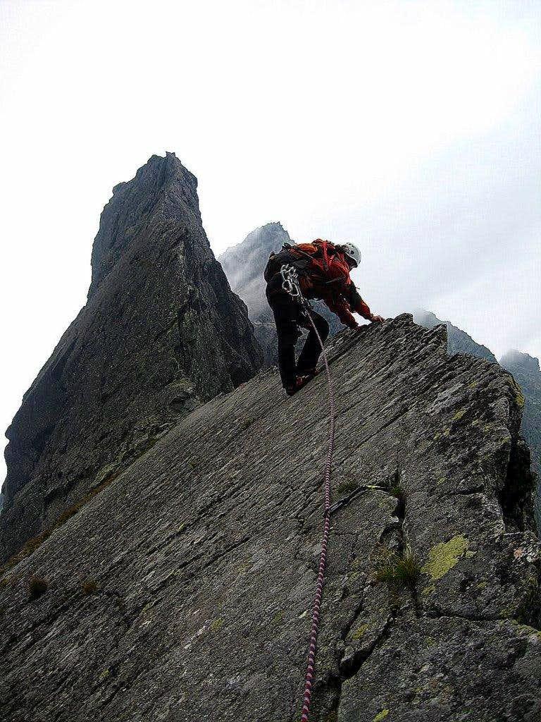 On the lower part of  Żabi Koń East ridge