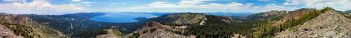 Rose Knob Peak Summit Panorama