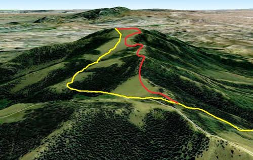 Whiskey Peak Routes