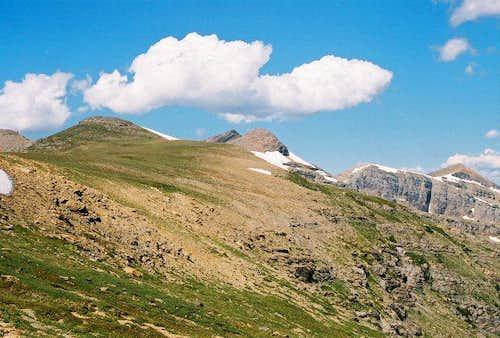 Tundra-covered ridge...